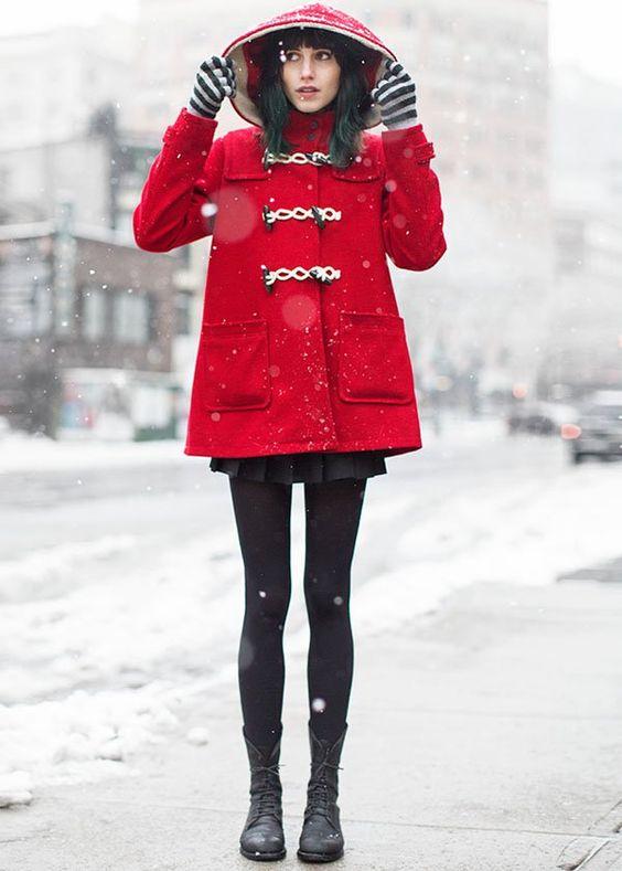 look-casaco-vermelho