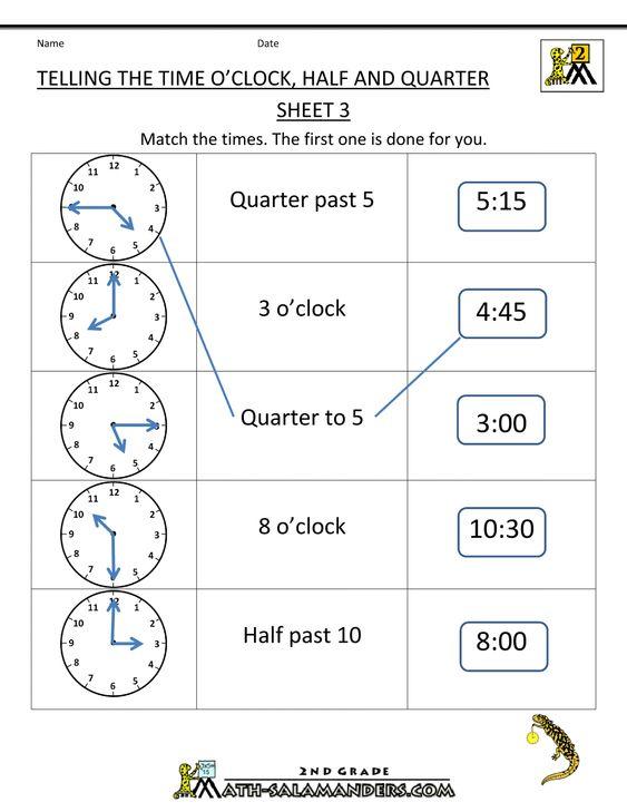 Time Worksheets » Time Worksheets Ks1 Oclock And Half Past ...