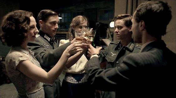 Greta, Wilhelm, Charlotte, Friedhelm and Viktor in Generation War (Unsere Mütter, unsere Väter)