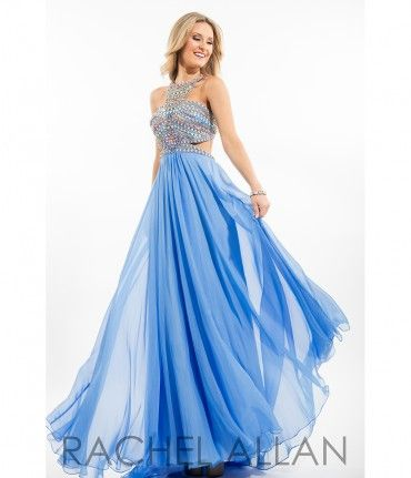 Please allow a 4 day handling time before this dress ships. Dreamy and fun! This flowing blue chiffon dress is stunn......Price - $398.00-s274lb8F