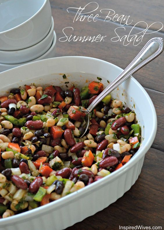 Three bean salad. Perfect for summer nights and barbecues