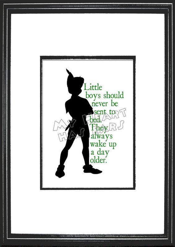 Peter Pan Little boys art - Digital file YOU PRINT. $5.00, via Etsy.