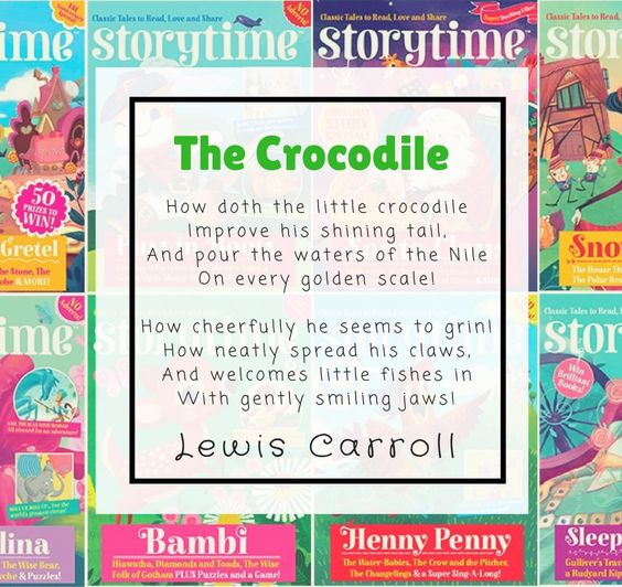 The Crocodile by Lewis Carroll   Traditional English Poetry for Kids