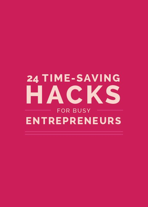 As a business owner, your time is limited. You're wearing several different  hats and juggling many roles, each of which requires precious time out of  your day. And chances are, you probably don't have many hours to spare.  We're all looking for ways to make the most efficient use of the 24 hours  we've been given. So I've rounded up my favorite time-saving hacks - 1 for  each hour of the day - in hope of helping you create a little more room in  your busy schedule.