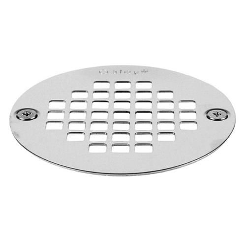 """Chrome 3 3//8/"""" Universal Shower Drain Strainer  with Cover and screws"""