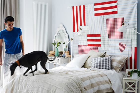 Diy fabric headboard, Fabric headboards and Headboards on ...