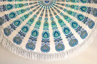 indischen Mandala rund Roundie Beach Überwurf Tapisserie Hippie Boho Gypsy Baumwolle Tischdecke Strandtuch, runde Yoga Mat