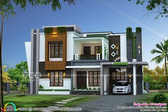 2352 Sq Ft Awesome Contemporary Kerala Home Design Kerala House Design House Design Pictures House Designs Exterior
