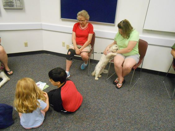 Visit with furry friends to practice reading skills! 9-3-16