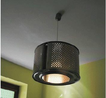 Lámpara con tambor de lavaropas