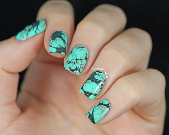 turquoise-stone-nail-art-2.jpg (1600×1280)