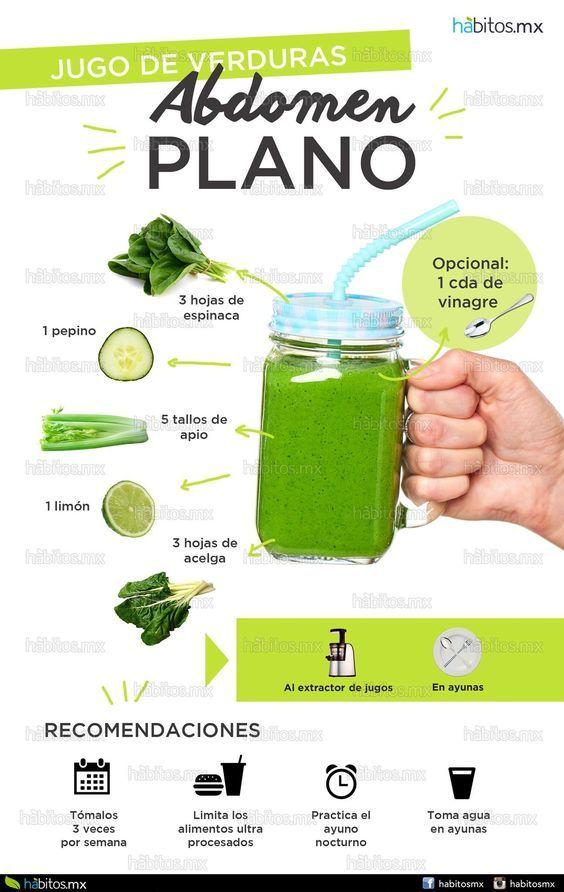 como hacer el jugo verde para quemar grasa