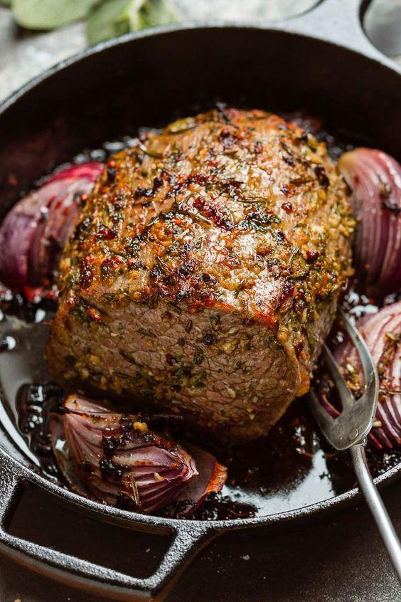 Garlic Butter Herb Roast Beef