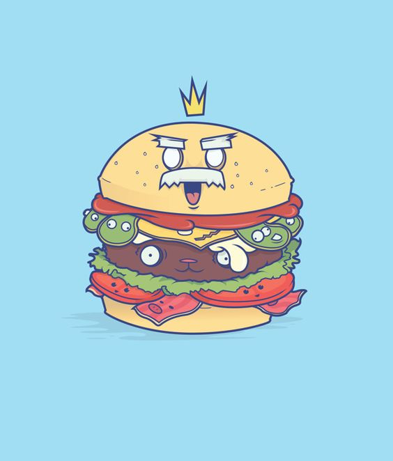 The real burger King on Behance