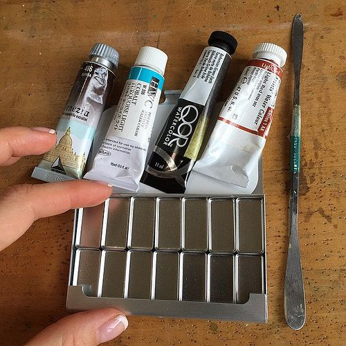 Great small pocket palette arrived last week  i'm going to fill this with my favorite watercolours !  | por barbaraluel