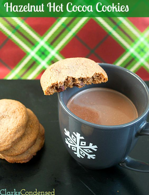 Hazelnut and Chocolate chip Hot Cocoa cookies by Clarks Condensed