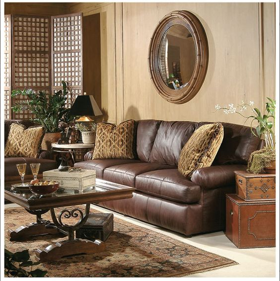 Elegant Traditional Living Room Furniture: Living Rooms With Leather Sofas