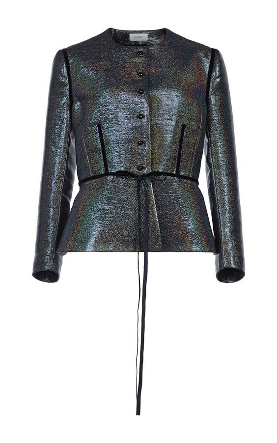 Disco Silk Fitted Jacket  by ISA ARFEN for Preorder on Moda Operandi