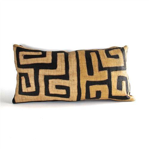 Applique mud cloth cushion
