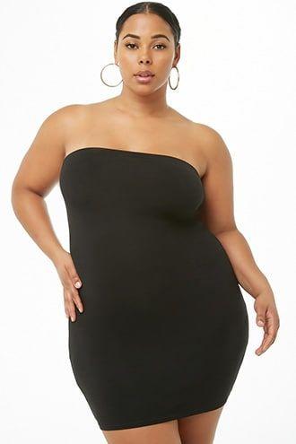 Plus Size Mini Tube Dress | Tube dress, Plus size, Fashion