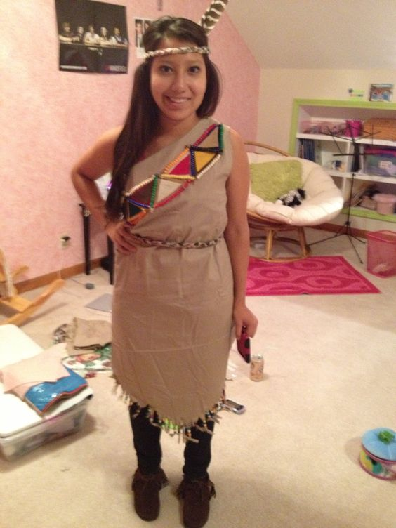 The Indian costume we made! Crafty girls! Costume design - female halloween costumes ideas