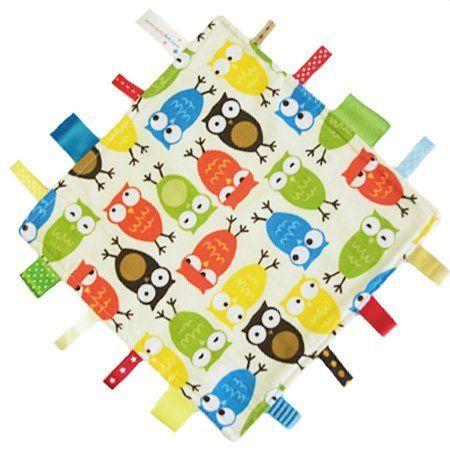 Neue, handgemachte Sicherheitsdecke Steppdecke von Dotty Fish. Hergestellt in England. Eule design. von Dotty Fish.