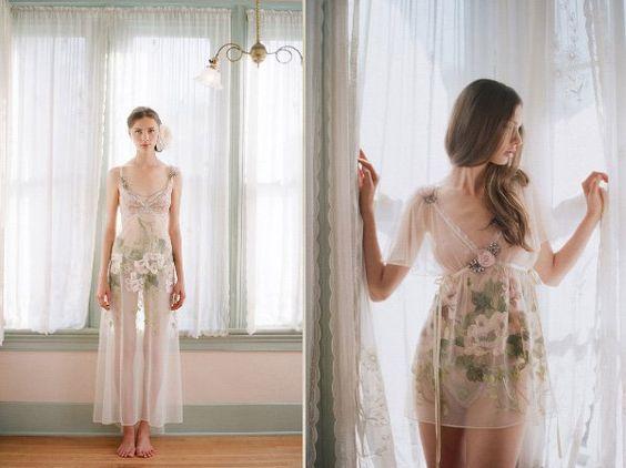 Lingerie para noivas românticas de Claire Pettibone