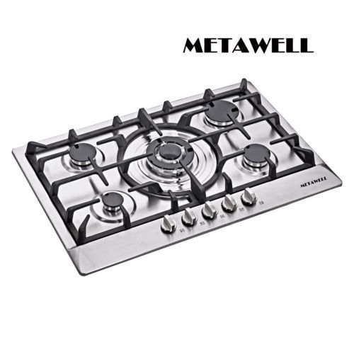 30inch Stainless Steel 5 Burners Built-in Stove Cooktop Natural Gas Hob ship US