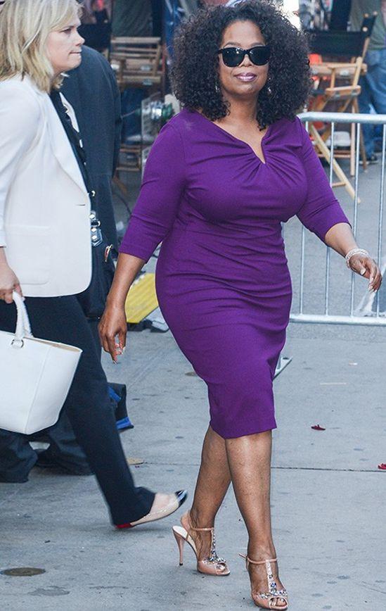 plus size, vestido, oprah winfrey, estilo, dress, purple
