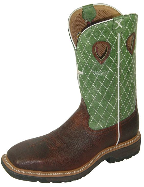 Twisted X Boots - Men's Lite Cowboy Work Non-Steel Toe - MLCW002 ...