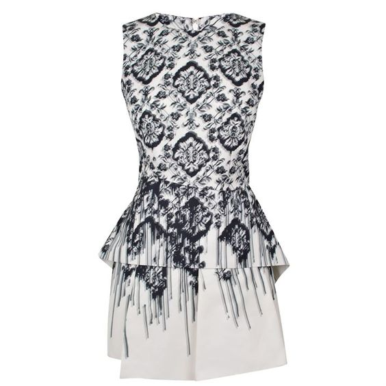 mcq alexander mcqueen | sculpted peplum faille dress |