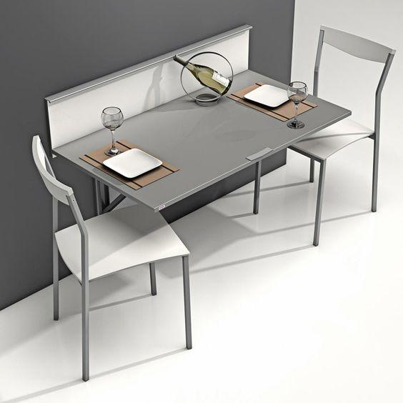 Mesa plegable con repisa modelo wall para cocina. es ideal para ...
