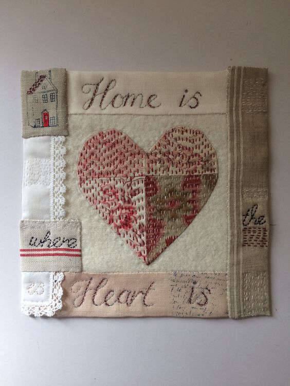Claire's beautiful square for our Jessie Chorley 'Home' friendship squares project.