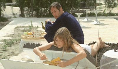 "haidaspicciare: ""  Maurice Ronet & Jane Birkin, ""La Piscine"" (Jacques Deray, 1969). """