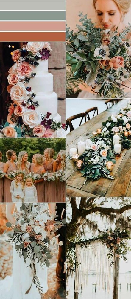 Our Wedding sage green and dusty rose wedding color ideas Wedding | Color Scheme | Bridesmaids | Colors | Blush | Pink | Blue | Green | Ideas | Theme
