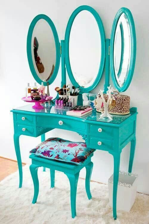 The color is too bright for my bedroom but I really love this vanity.