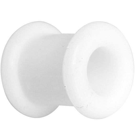 0 Gauge White Double Flare Flexible Tunnel