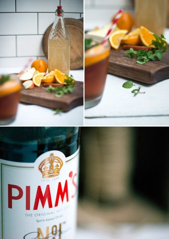Pimm's Cocktail with Homemade Ginger Cordial | Adeline & Lumiere