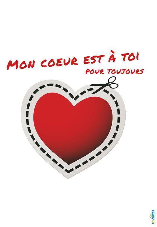 Carte D Anniversaire Amour A Imprimer Unique Carte Amour Mon Cœur Est A Toi Carte Amour Carte Anniversaire Carte