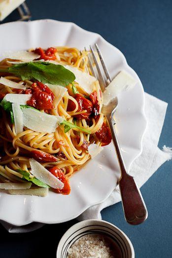 ... linguini with Rocket (arugula) | Recipe | Roasted Tomatoes, Tomatoes