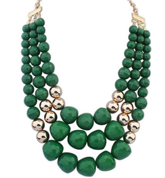 Charm Unique Design Collar Crystal Chunky Choker Pandent Statement Necklace Gift
