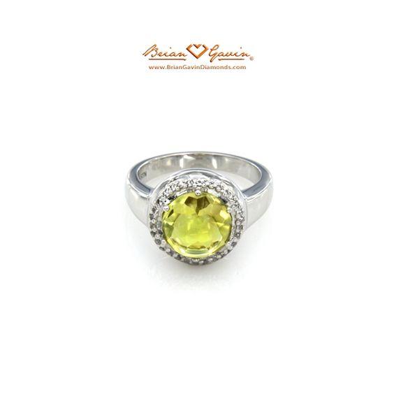 Brian Gavin Select Round Cab Lemon Quartz #gemstone ring - $152