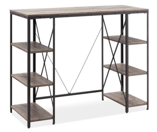 Stratford Rustic Trestle 6 Shelf Standing Desk Big Lots Shelves Rustic Home Offices Standing Desk