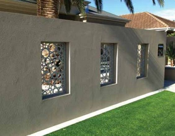 25 Best Concrete Fencing Design Ideas For Backyard Remodeling Plan The Material Of A Fence Holds An Importa Fence Design Backyard Fences Backyard Fence Decor