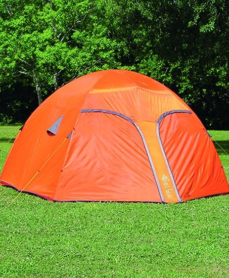 RUGGED: First Gear  Orange Mountain 5-man Tent