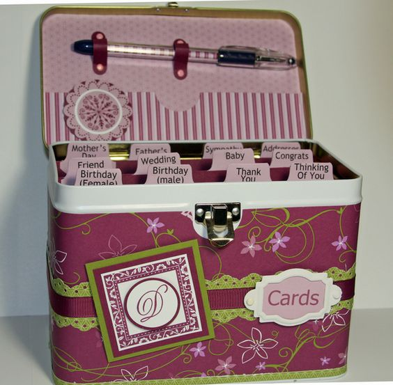 Cards, Card Organizer And Pens On Pinterest