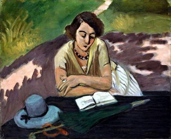 Henri Matisse - Liseuse à l'ombrelle, 1921.
