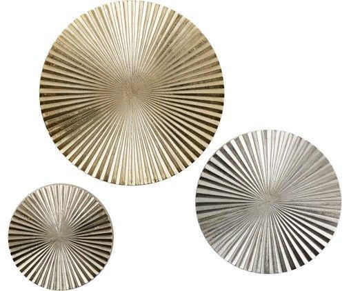 wandobjekt set ikarus 3 tlg in gold silber aus metall von boltze online kaufen gratis versand ab 30 100 tage ruckgabe westwi spiegel design wand wanddekoration rustikale