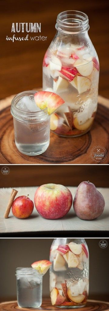 Enjoy staying hydrated with this Autumn Infused Water. I drink it throughout the day and always enjoy it with my protein bar before or after a workout.: