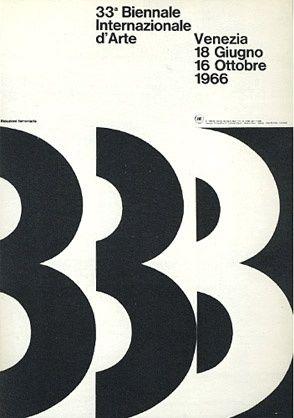 Bob Noorda: manifesto per la 33a biennale d'arte di Venezia. 1966